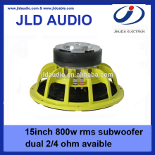 best price for 15 inch subwoofer RMS 800w with yellow aluminum basket spl speakers subwoofer auto