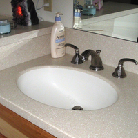 sahara beige solid surface Bathroom countertops