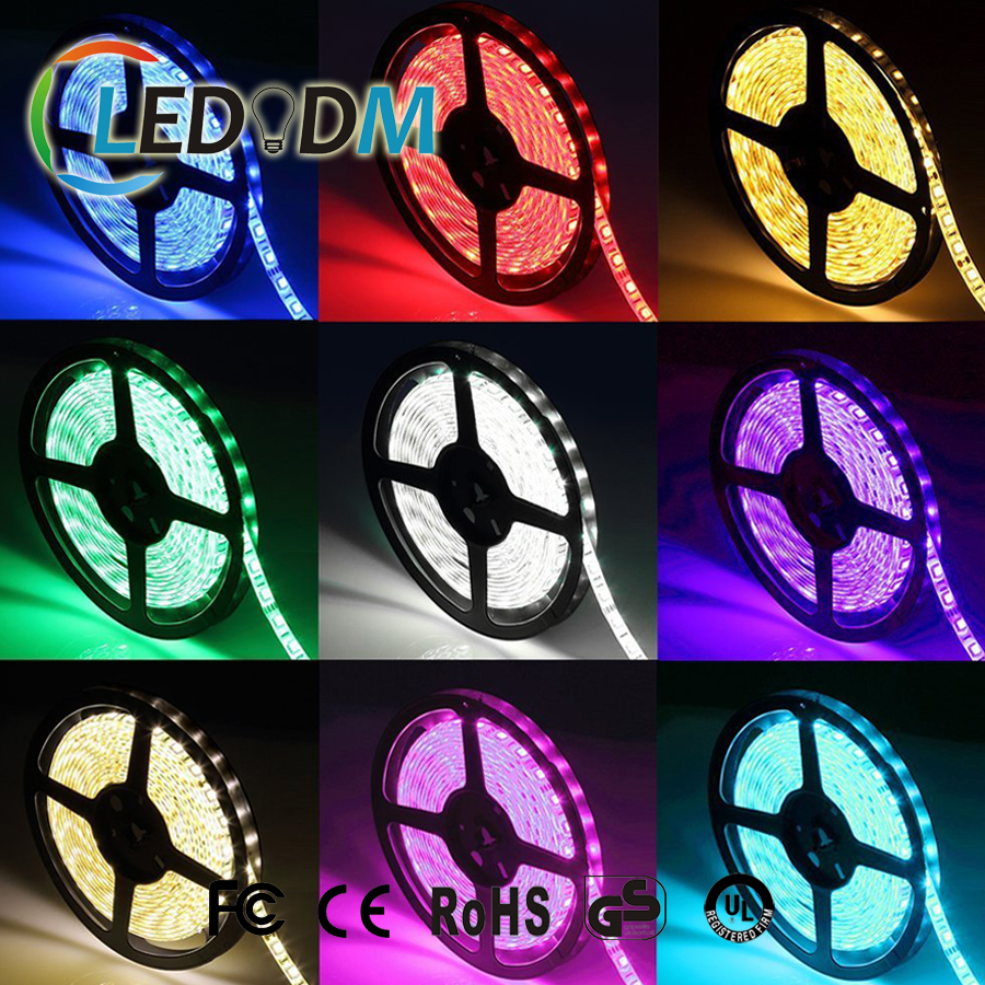 12V SMD5050 RGB Waterproof Led Rope Strip Light for Christmas Tree Decoration With CE ROHS