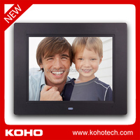 "8"" cheapest digital photo frame with photo, music and video function"