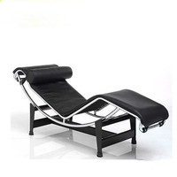 Le Corbusier Chaise Lounge Chair with metal base and cow leather 2015 new style leisure chair recline chair