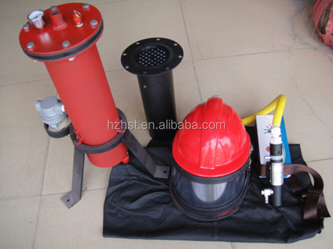 ABS Sandblast helmet with temperature regulator Precision Filter