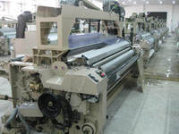 Heavy dobby shedding high speed water jet weaving loom running stable