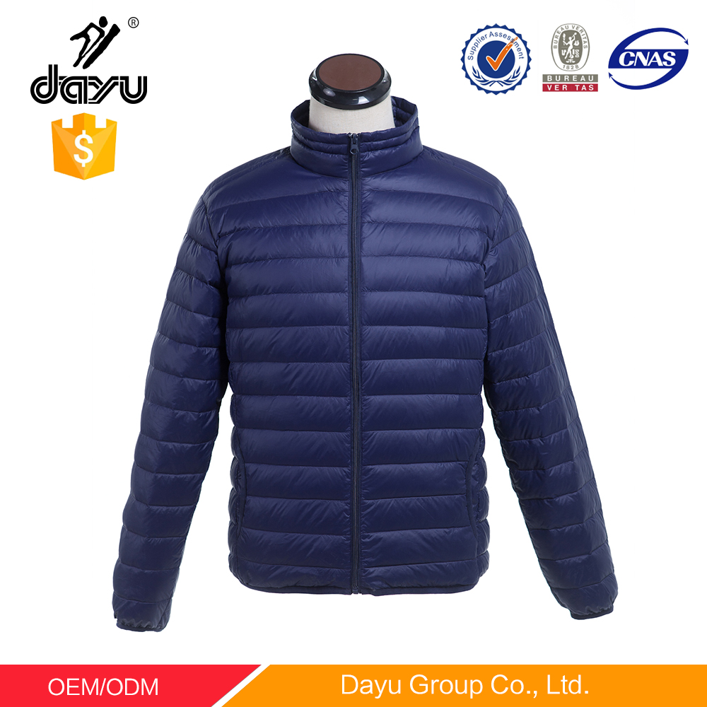 5 colors in sock clothings men's puffy jacket foldable softshell winter jacket man ultral down jacket with carry bag