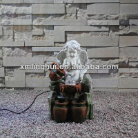 Small Handmade Garden Decoration Angel Water