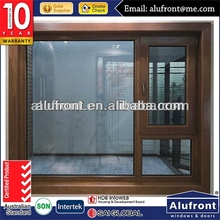 aluminium wood casement window with sub frame