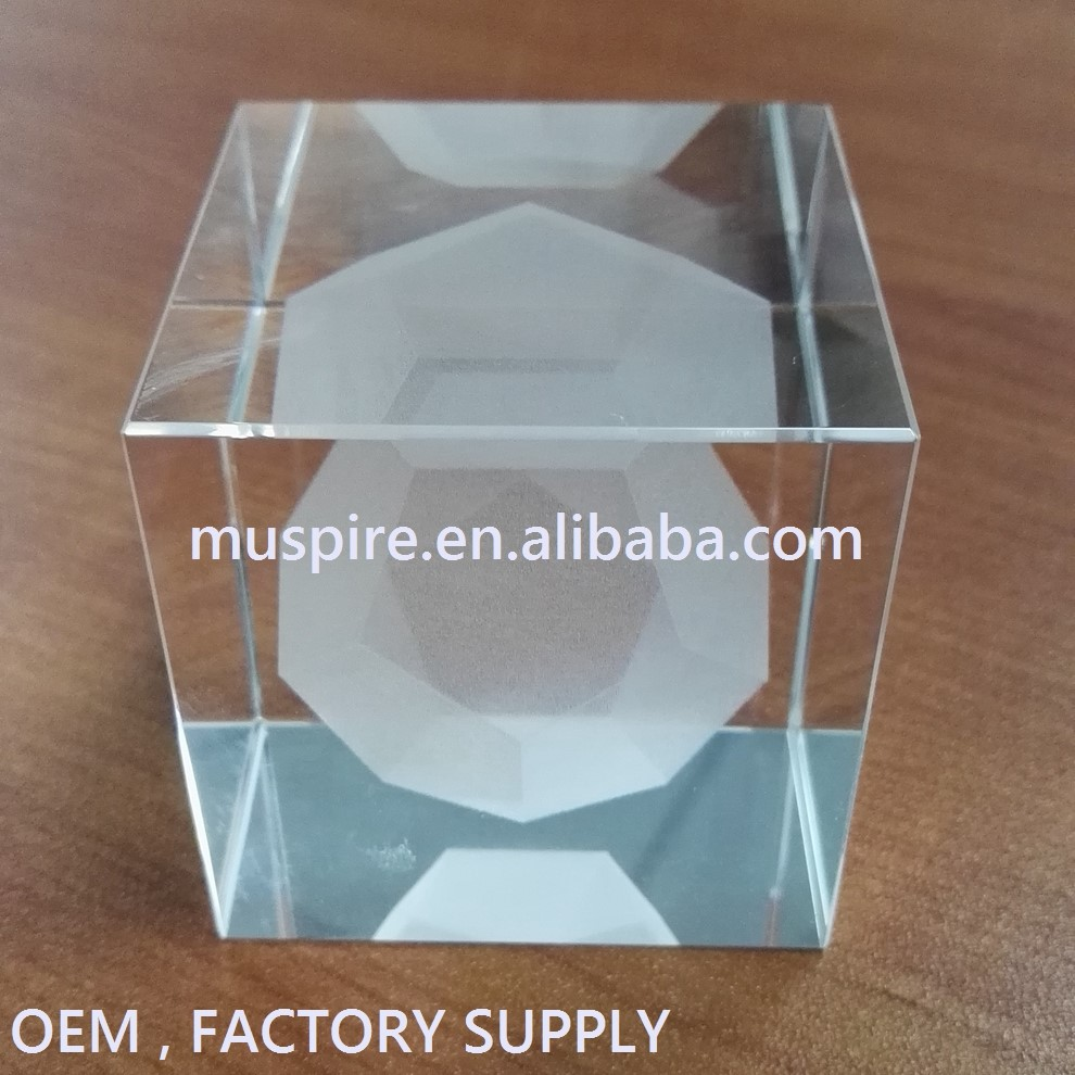 Block&Cube Product Type and Crystal Material 3d laser engraving crystal glass block