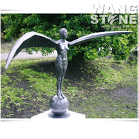Large Metal Bronze Angel Statue for Garden