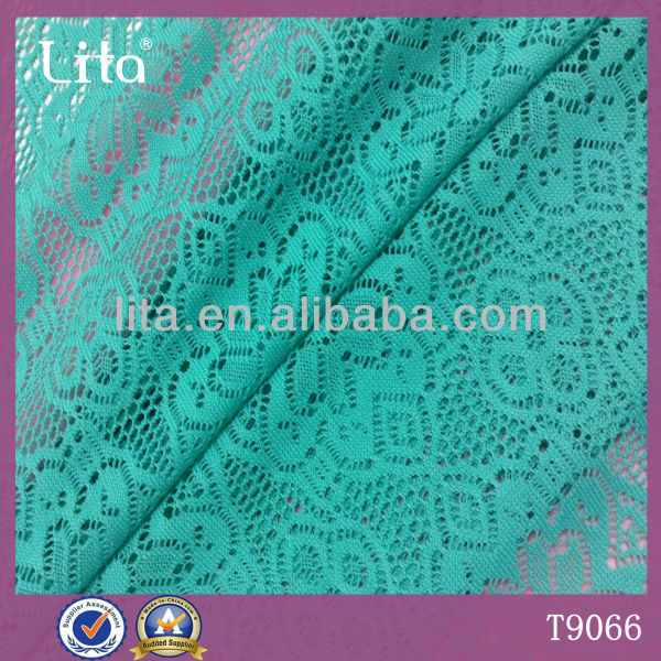 Lita T9066 100% polyester cheap lace fabric