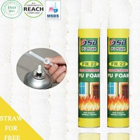Best Selling window door Cheap 750ml PU Expanding Spray Polyurethane Foam Insulation Adhesive Fire Retardant Foam