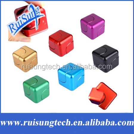 Aluminum Alloy Magic Cube Hand Spinner Whirlwind Square Finger Gyro EDC Decompression Toys Relief Finger Gyro Fidget Spinner