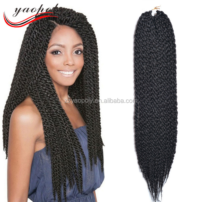 hot selling black 3d cubic twist braid havana mambo crochet braid <strong>hair</strong>