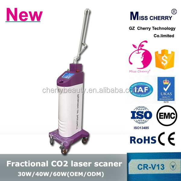 bottom price co2 laser fractional Skin Tightening machine with 9 kinds of languages