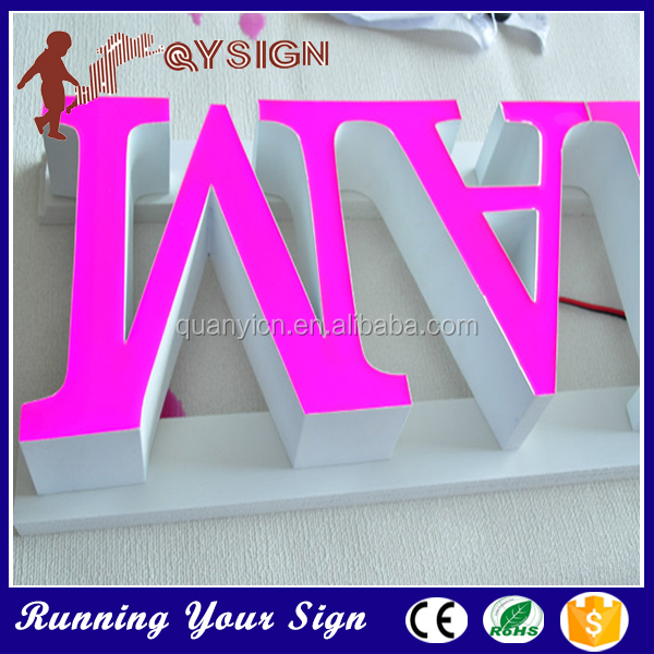 Super bright Epoxy letter resin sample letter of export
