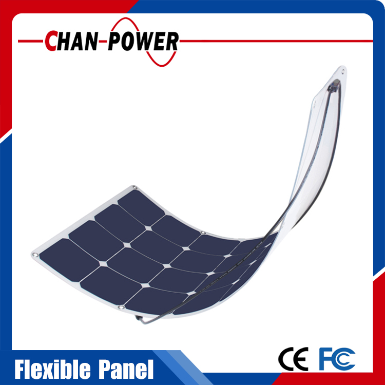 2016 High Quality OEM 50W 100W 120W 140W Semi Flexible Solar Panel