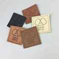 Directly Manufacturer Customized Debossed Leather Clothing Patches Labels for Bags