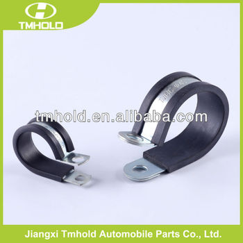 "Pipe clamp with rubber with two holes, 8"" rubber pipe clamp with M8 nuts"