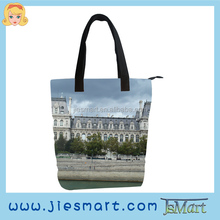 JSMART custom printing photo bag canvas lady handbag