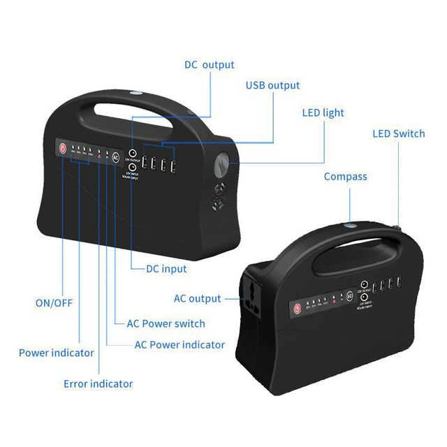 Electronics 20000Mah Dual Output Power Bank 2600Mah Usb For Phone 6 Philips