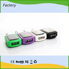 Small Size Solar and USB powered chargers and battery packs charging optimized for iPhone, psp... With a recharge battery