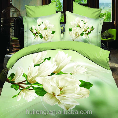 2014/3D printed/100% polyester fabric/plain/weave/bedding set