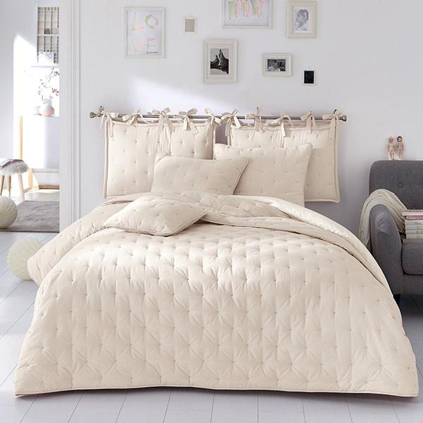 White color comfortable crochet bedspreads buy crochet - Boutis la redoute ...