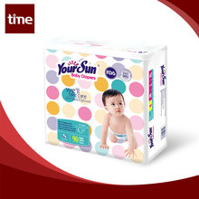 Disposable basic diapers baby with waterproof bottom sheet