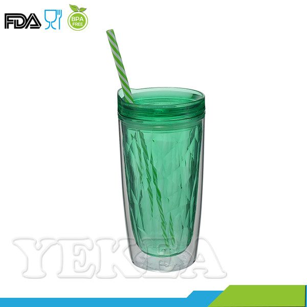 450ml Juice Double Layer Plastic Tumbler Manufacturer Factory