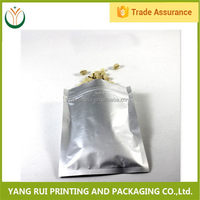 Top level Fashion Design white magic zipper aluminum foil bags