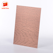 Trade Assurance Customized Copper Coating Etching Stainless Steel Sheets 304 Decorative