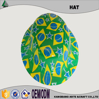 Colorful Logo Printing Customized Plastic Christmas Cowboy Hat