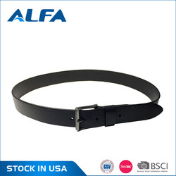 Alfa High Quality Custom Logo Black Italian Leather Designer Belts For Men Pants