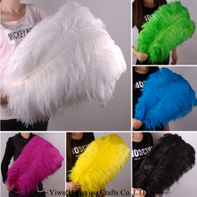 Factory wholesale white loose feather artificial colored ostrich feathers for wedding decoration