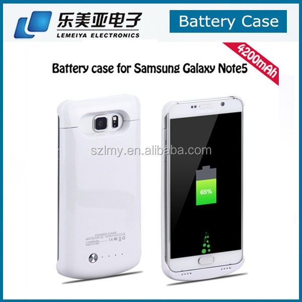 4000mAh Power Bank External Backup Battery Case for Samsung Galaxy Note 5