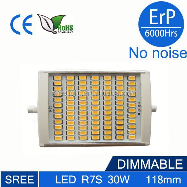 Dimmable r7s led 30W 118mm 8w 10w epstar r7s led lights