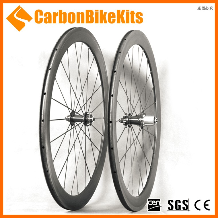 CBK disc brake 700c bike carbon road wheels china wholesale with 50mm deep clinchers