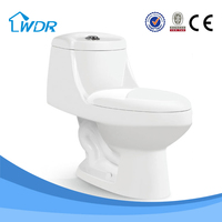 chaozhou ivory color ceramic one piece siphon flushing 3inch wc toilet