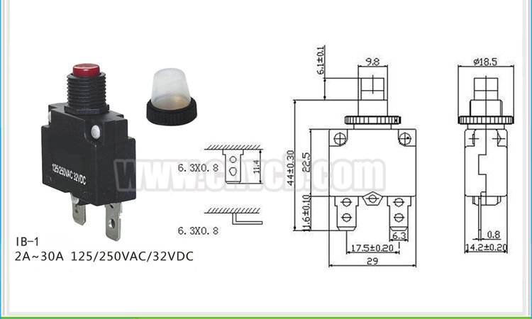 001 IB-1 3A Low voltage Motor Protection Thermal Switch overload protector