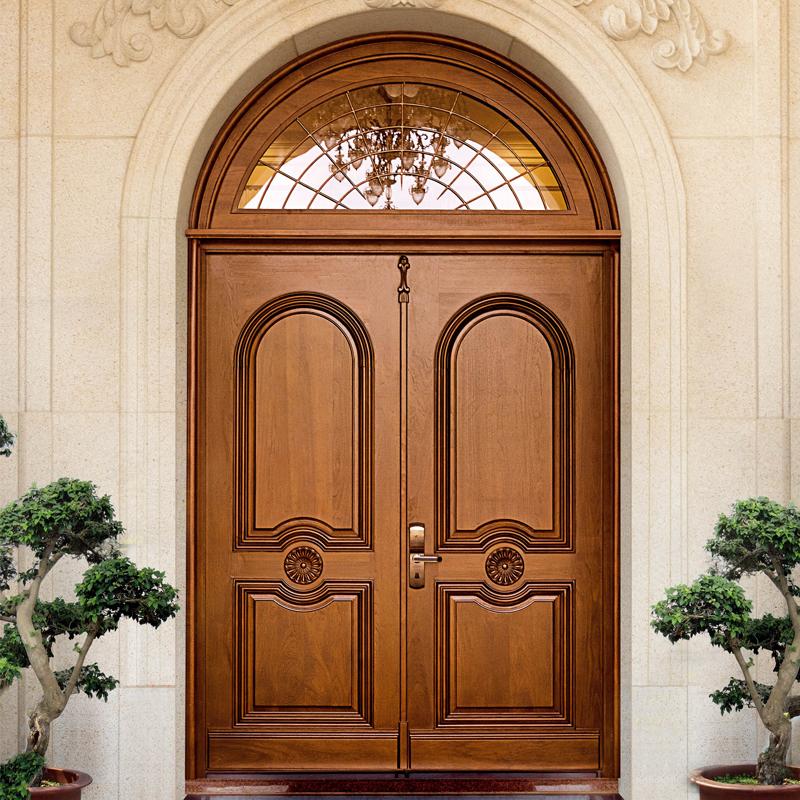 Hs Yh8006 Waterproof Exterior Wooden Arched Entry Door Designs Buy