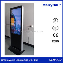 "46"" free standing digital signage,touch screen kiosk totem lcd display,lcd advertising screens"