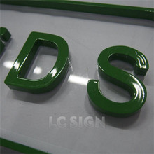 Promotional stainless steel back lit letters signboard for market with individual generators