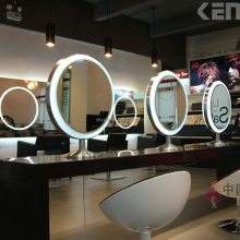 salon station mirrors with LED light
