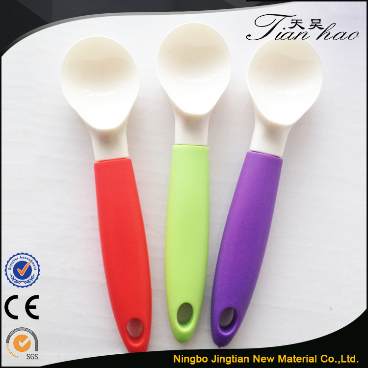 colorful plastic measuring ice cream spoon