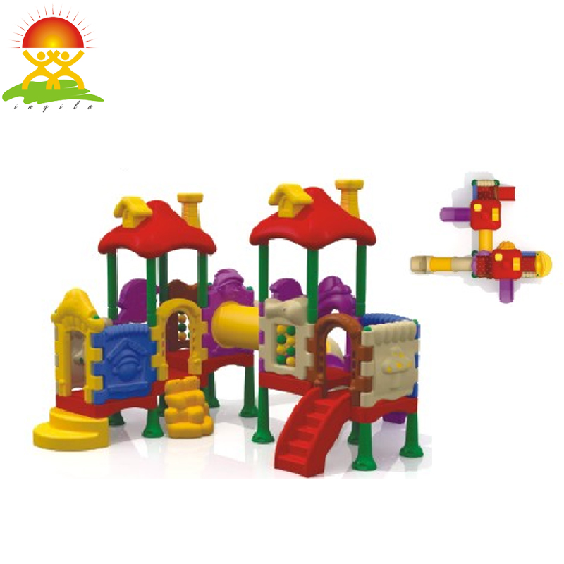 Plastic large outdoor slide