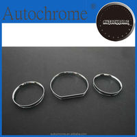 Decorative car accessory accent, chrome dash board gauge ring set for Mercedes Benz W124