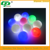 2015 bulk cheap custom design LED golf ball , LED light source 45g LED bulb,practice golf ball
