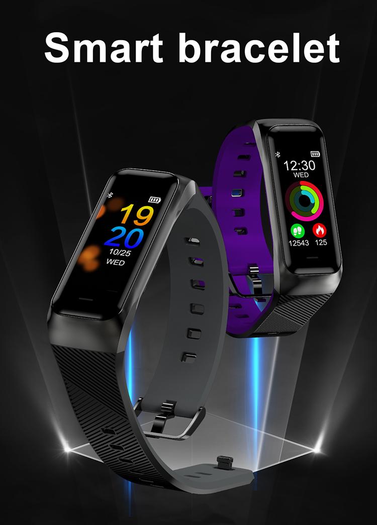 High End Smart Bracelet B02 IP67 Waterproof Blood Oxygen Heart Rate Monitor Watch 2018