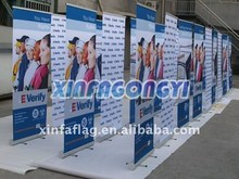 digital printing heat transfer pull up banner expo displays 100 % polyester from China factory