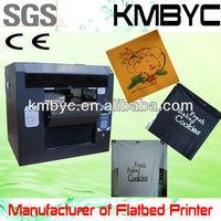 BYC168 Flatbed tee shirt printer handy tee shirt printing equipment