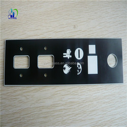 4mm Silk screen printing glass for switch touch panel